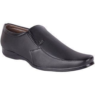 Lee Kadam Mens Black Formal Slip on Shoe
