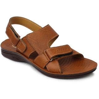 Action Floaters MenS Tan Velcro Sandals
