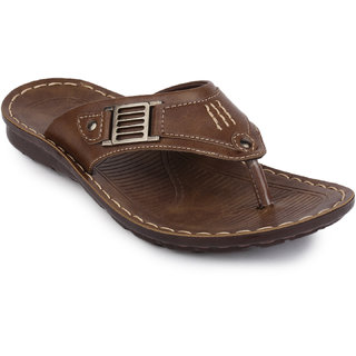 Action Floaters MenS Brown Slip On Sandals