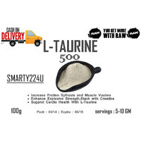 L-Taurine Powder 100% : 100 Gms - Unflavored Pure Pre-Workout & Increased Energy