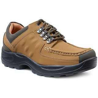 Action Dotcom MenS Tan Casual Lace Up Shoes