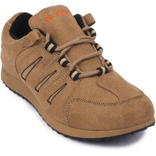 Action Dotcom MenS Beige Casual Lace Up Shoes