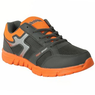Action MenS Grey  Orange Lace Up Sports Shoes