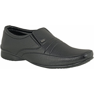 Action Dotcom MenS Black Formal Slip On Shoes