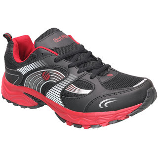 Action MenS Black  Red Lace Up Sports Shoes