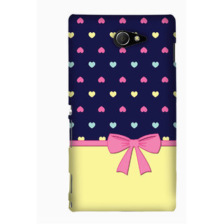 Pick Pattern Back Cover for Sony Xperia M2 (MATTE)