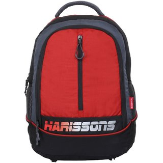 Harissons Atom Red Polyester Backpack