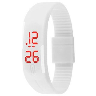 PRUSHTI Digital White Dial LED Watch for Men- Sp17