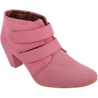 Exotique Womens Pink Casual Boots(EL0031PK)