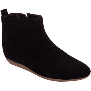 Exotique Womens Black Casual Boot(EL0041BK)