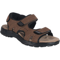 Action Shoe MenS Tan Casual Velcro Sandals