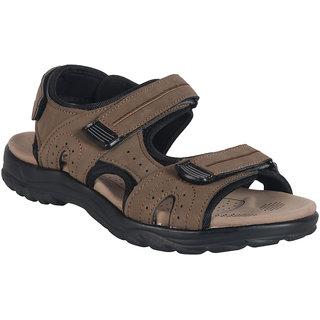 Action Shoe MenS Khaki Casual Velcro Sandals