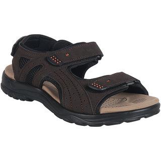 Action Shoe MenS Brown Casual Velcro Sandals