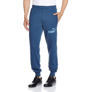 Puma Mens Blue Cotton Blend Sweatpants