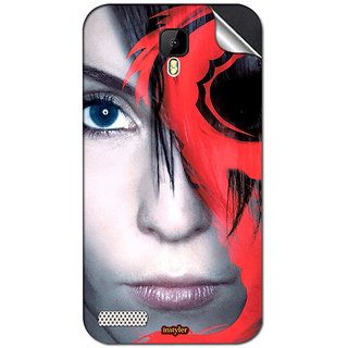 Instyler Mobile Skin Sticker For Spice Xlife Dragon