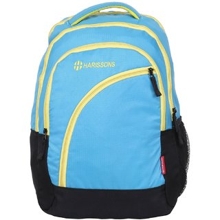 Harissons Yes Boss Blue Polyester Backpack