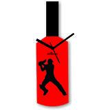 Cricket Master Blaster Style Red & Black Wall Clock