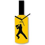 Cricket Master Blaster Style Yellow & Black Wall Clock