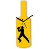 Cricket Master Blaster Style Yellow Wall Clock