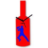 Cricket Master Blaster Style Red Blue Wall Clock