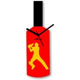 Cricket Master Blaster Style Multi-Colour Wall Clock Design 2