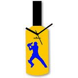 Cricket Master Blaster Style Multi-Colour Wall Clock Design 3