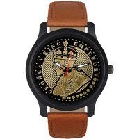 Jack Klein King Emperor Round Dial Multi Leather Strap Men Analog Watch