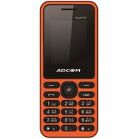 ADCOM 101 Dual Sim Mobile Phone Black  Orange