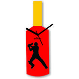 Cricket Master Blaster Style Multi-Colour Wall Clock Design 6