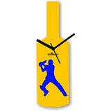 Cricket Master Blaster Style Yellow & Blue Wall Clock