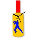 Cricket Master Blaster Style Blue & Black Wall Clock