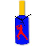 Cricket Master Blaster Style Multi-Colour Wall Clock Design 4
