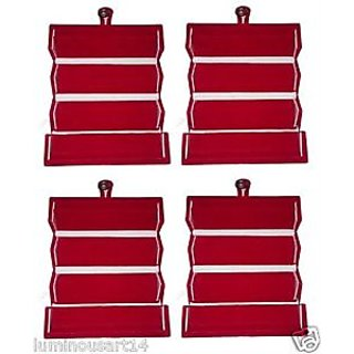 Atorakushon 4 Earring Jewellery Jewelry Box Vanity Case Makeup Kit Pouch Storage Organizer