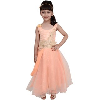 Arshia Orange Net Frock
