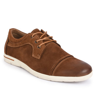 Action- Nobility MenS Tan Casuals Lace-Up Shoes