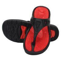 KaceyS Ks57 MenS Floater Flip-Flop In Red With Black Strips