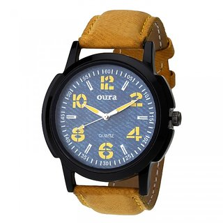 OURA-BLYL-276 Analog Round Multi-color Leather Classic watch For Men