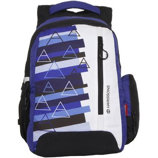 Harissons Eon Blue Polyester Backpack