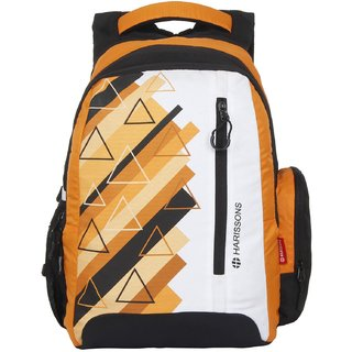 Harissons Eon  Orange Polyester Backpack