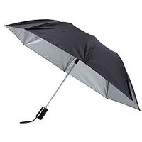 2 Fold Black Nylon Cloth Umbrella
