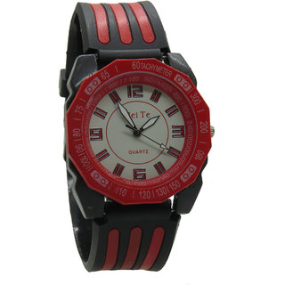 Designer Red Men Wrist Watch By Royal Td9180
