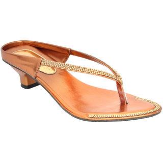 Altek Designer Kitten Heel Copper Sandal