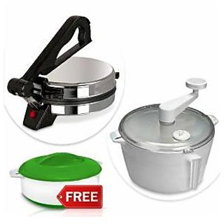 Kitchen Pro Roti Maker with Atta Maker  Casserole available at ShopClues for Rs.1499