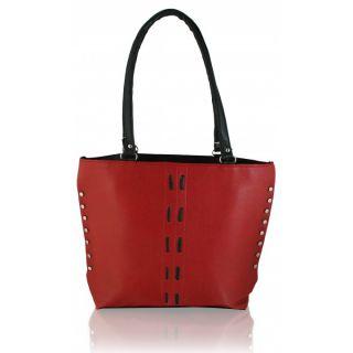 Clementine Maroon Black Handbag sskclem11