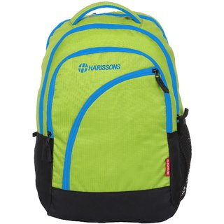 Harissons Yes Boss Green  Blue Polyester Backpack