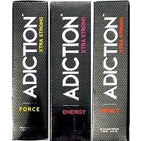 Adiction Xtra Strong Energy,force,Impact Deodorants Pack of 3 for Men Combo Set