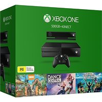 Microsoft Xbox One 500 GB with Kinect Sports Rivals, Dance Central and Zoo Tycoon