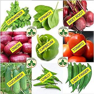 Seeds-Only For Organic Combo Of Nine Kitchen Garden Hybrid