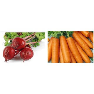 Seeds-Hybrid Combo Pack Beetroot And Carrot (Pack Of 2 )