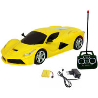 Fantasy India Rechargeable Remote Ferrari Toy Car (Red/Yellow/Orange)